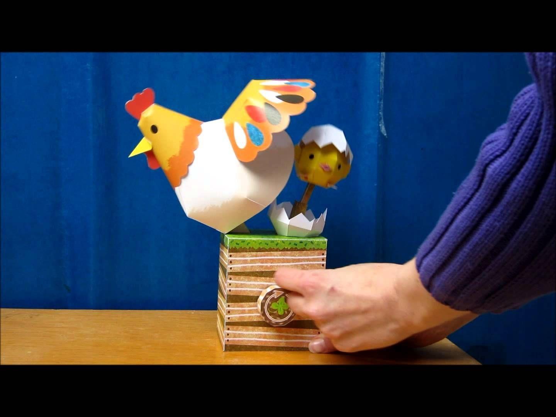 Canon Creative Papercraft Chicken and Newborn Chick Paper Automaton