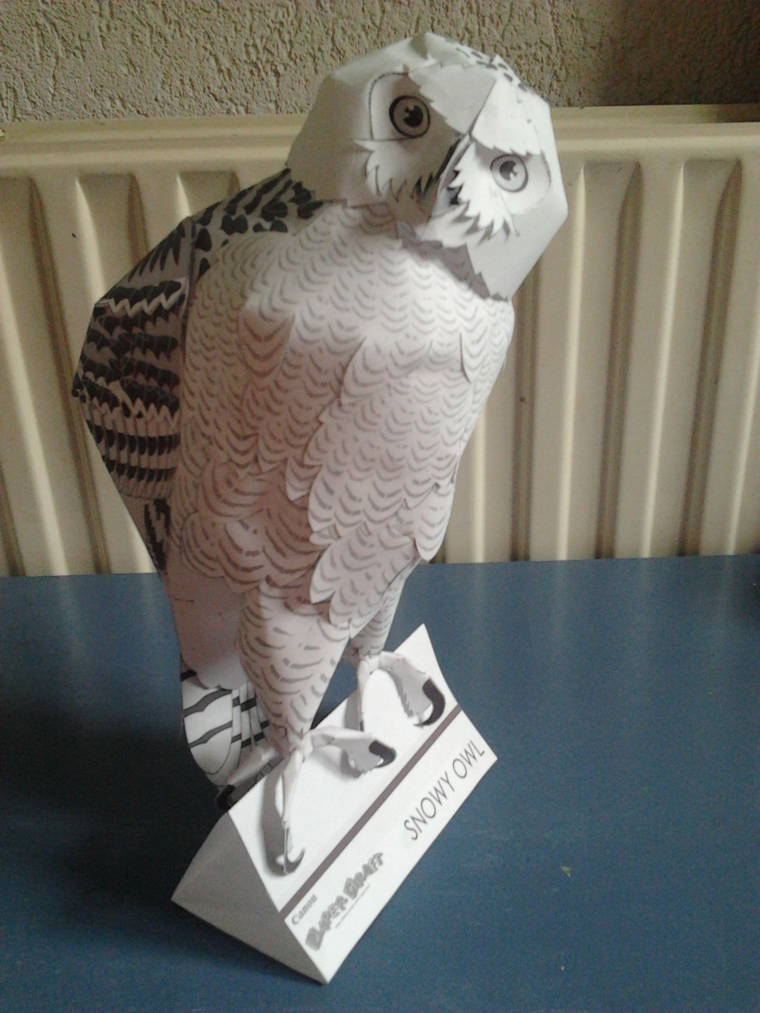 Canon Creative Papercraft Snowy Owl Made by Thijs Creative Park Canon Pinterest