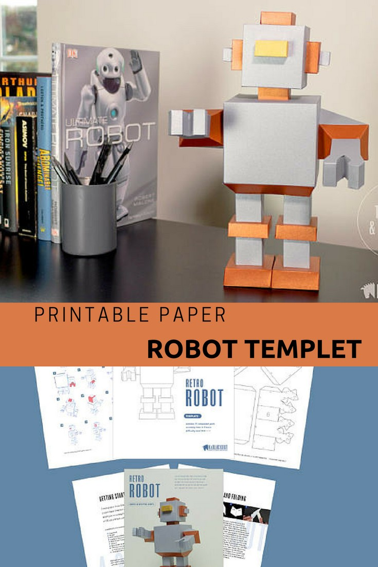 Canon Creative Papercraft Super Cute Printable Diy Templet for Paper Robot You Could Build