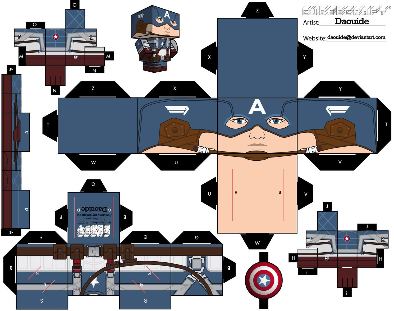 Captain America Papercraft Megapost] Papercraft Tus Personajes Preferidos En Papel