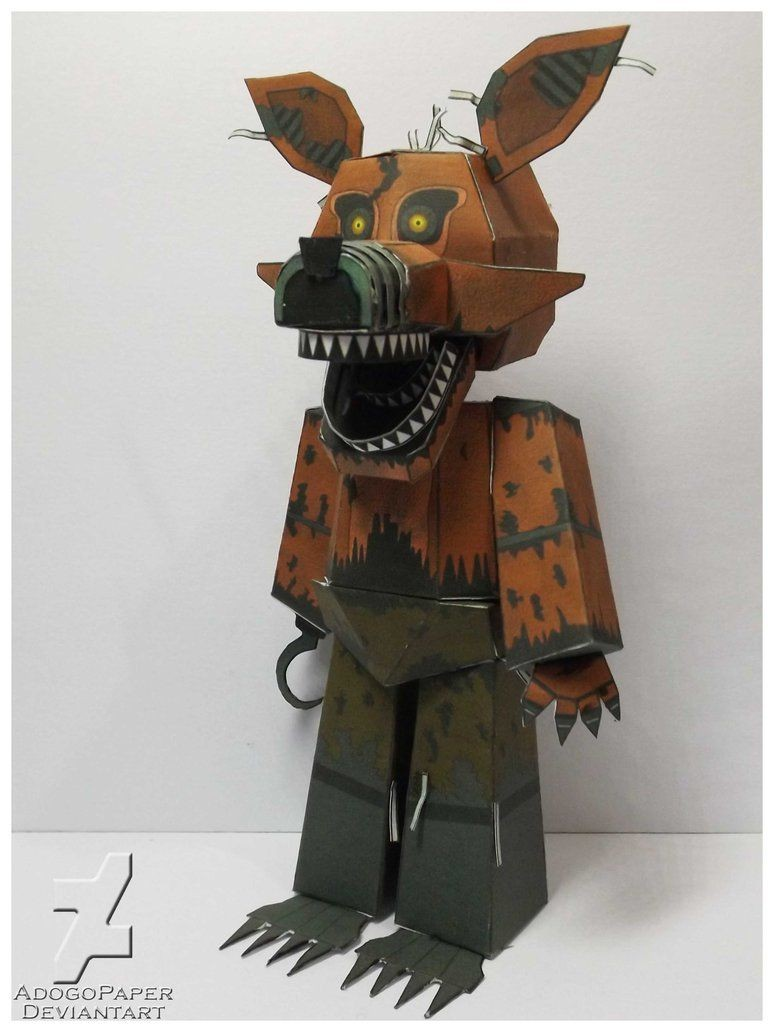 Ceiling Cat Papercraft Fnaf 4 Nightmare Foxy Mangle Papercraft by Adogopaper On Deviantart