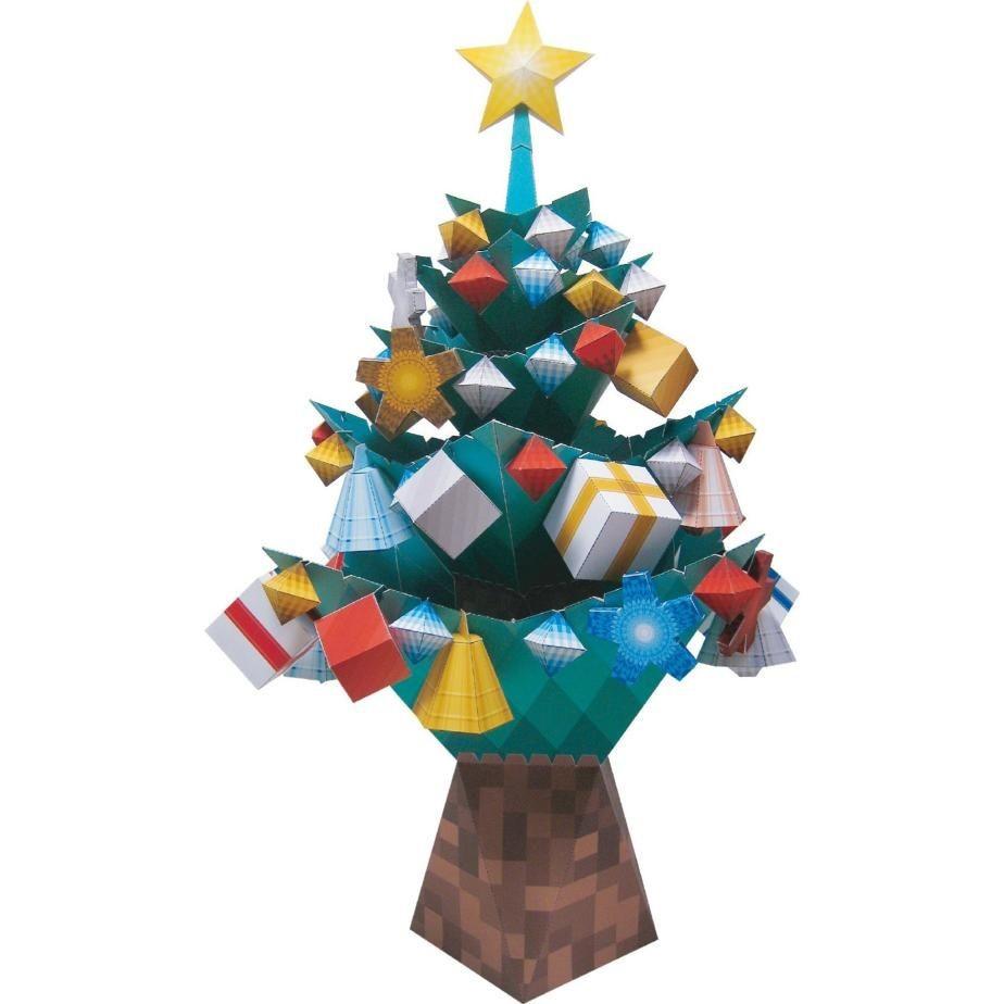 Christmas Tree Papercraft Christmas Christmas Tree with ornaments toys Paper Craft Christmas