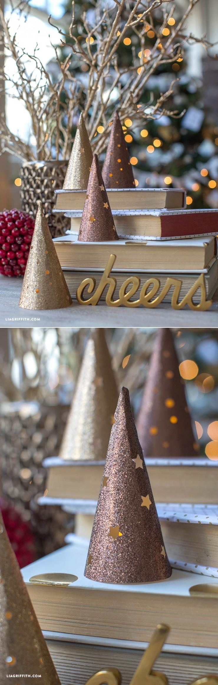 Christmas Tree Papercraft Paper Cone Lantern Christmas Tree Pinterest