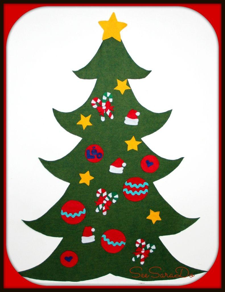 Christmas Tree Papercraft Sapin De Noel En Feutrine Brico No L