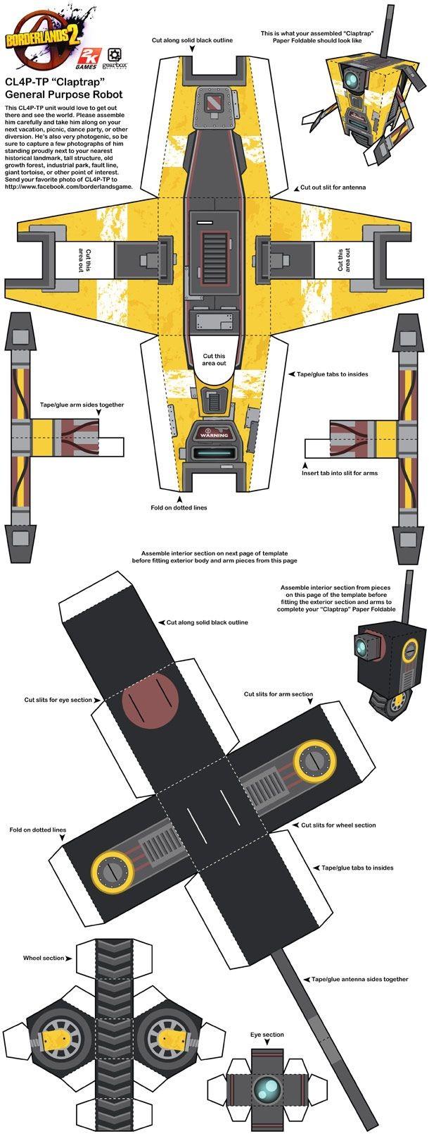 Claptrap Papercraft 51 Best Geek Images On Pinterest