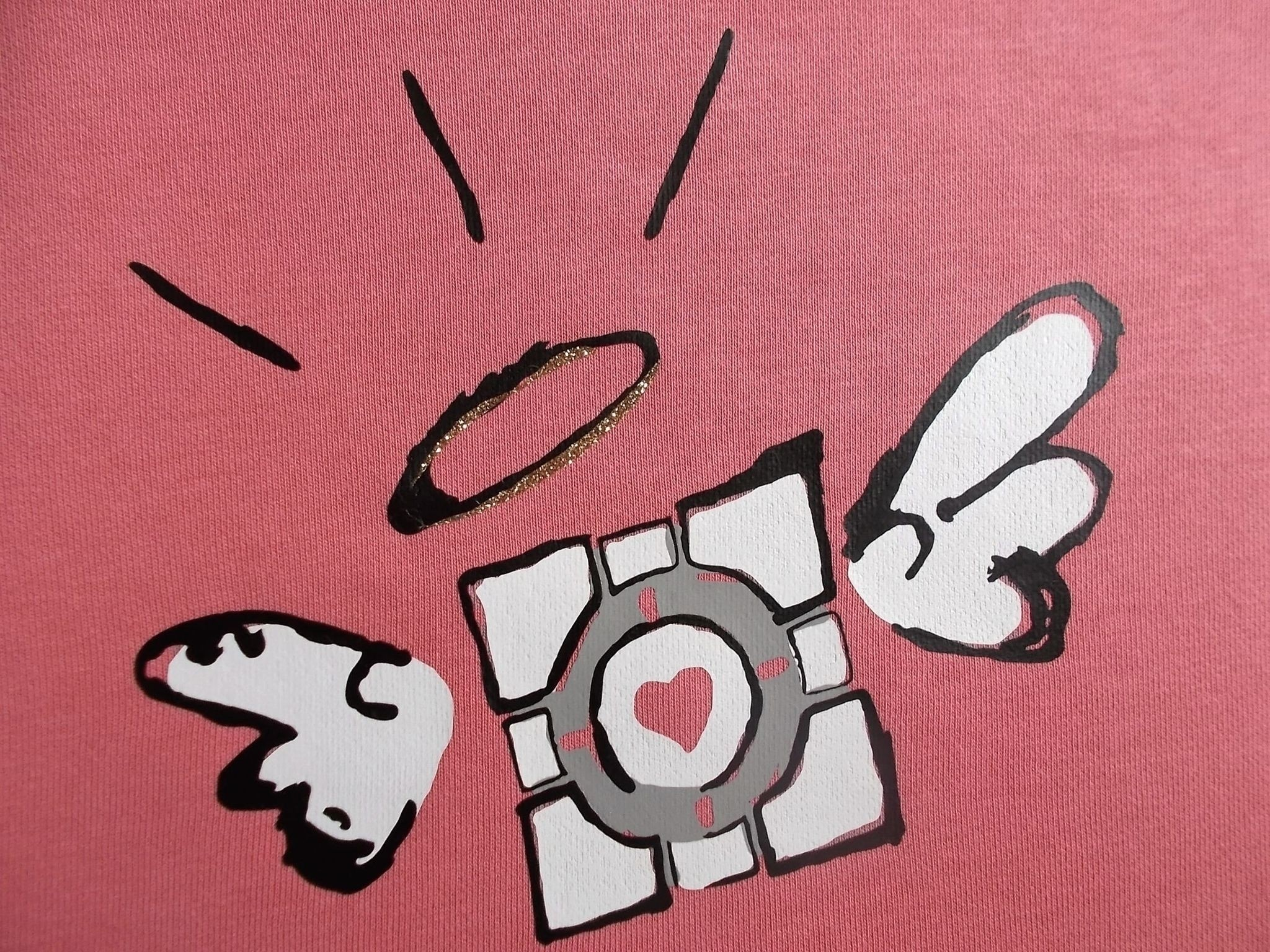 Companion Cube Papercraft Panion Cube Iron Pinterest