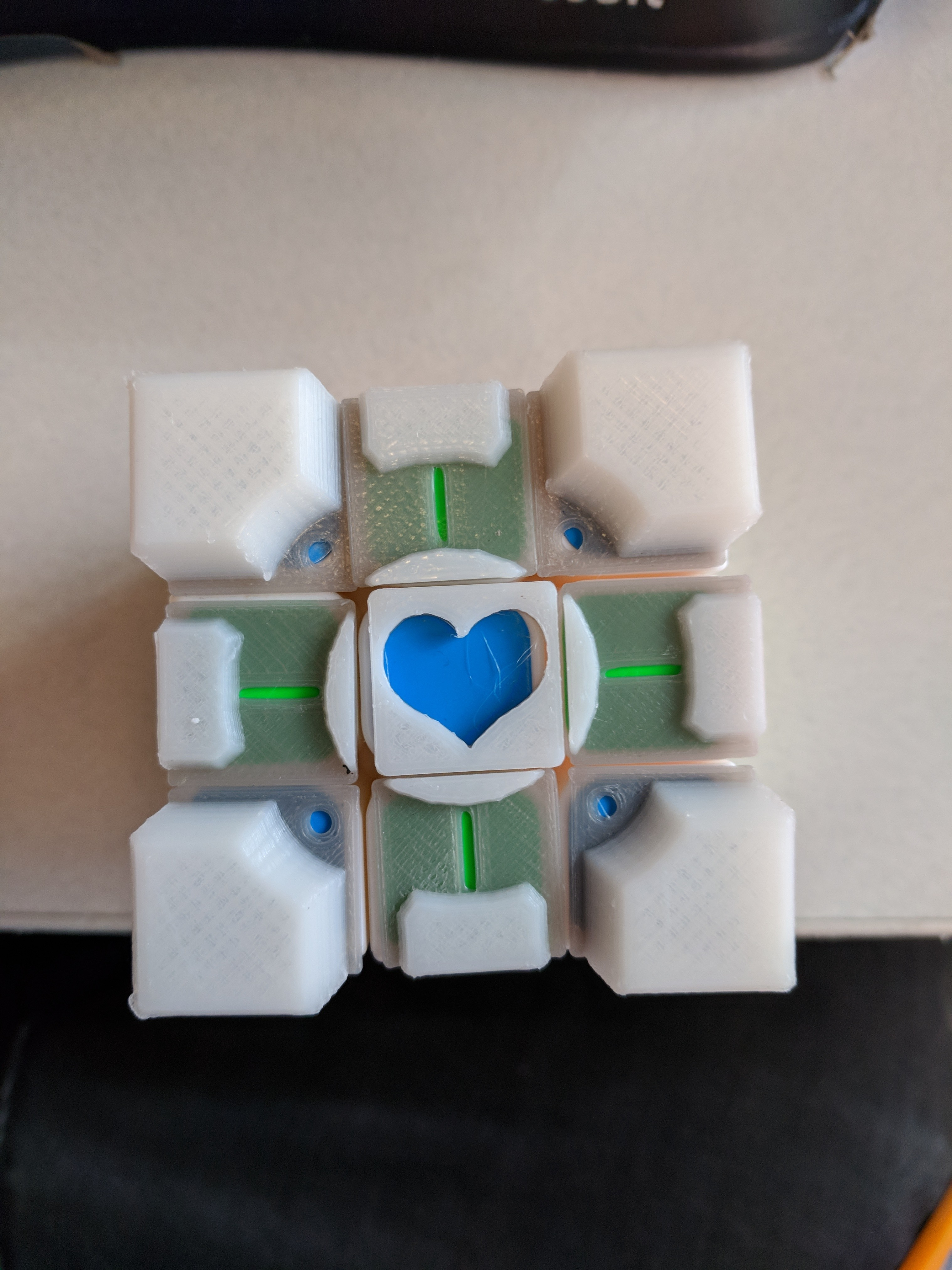 Companion Cube Papercraft Rubik S Panion Cube Stickers Improved by Perchik Thingiverse