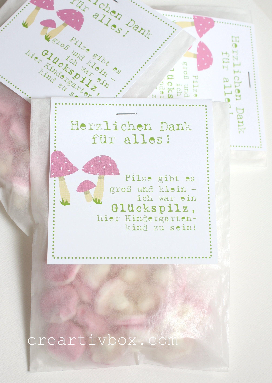 Crafty Devils Papercraft Krippenkind Dankeschön Glückspilzchen