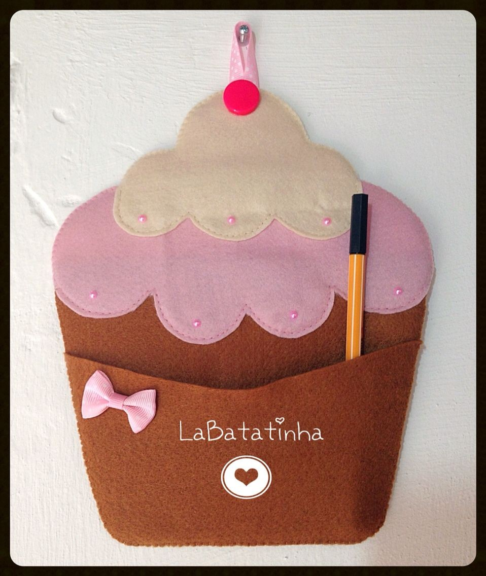 Cupcake Papercraft Porta Recados Cupcake Feltro Verita Pinterest