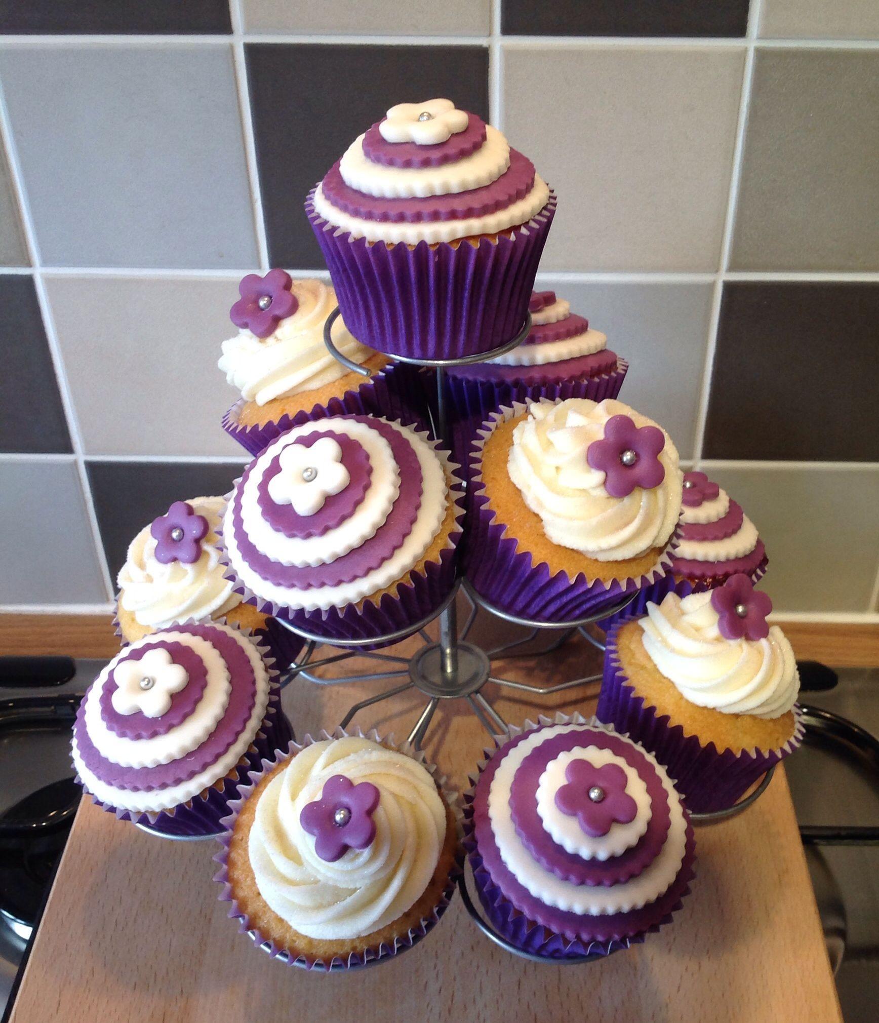 Cupcake Papercraft Purple Ivory Cupcakes My Cupcake Creations