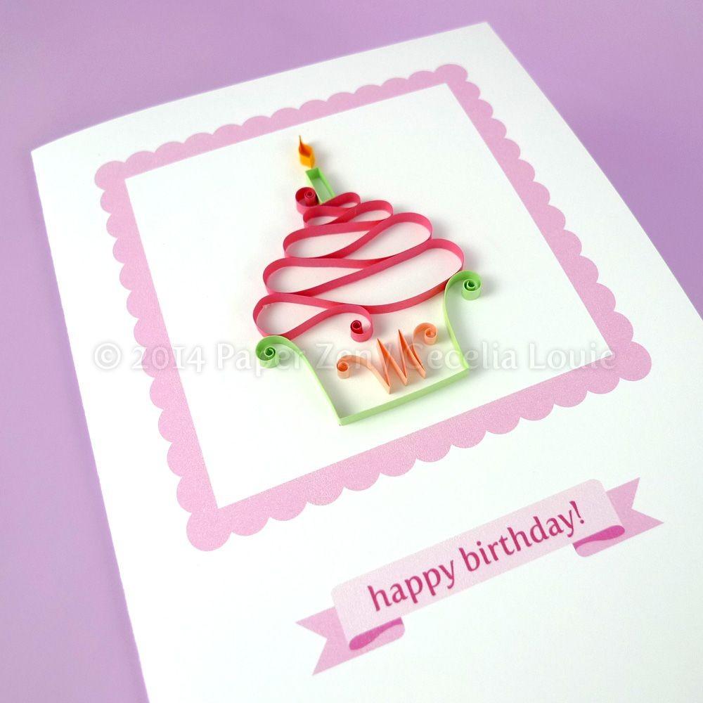 Cupcake Papercraft Quilling Cupcakes Pdf Pattern Tutorial