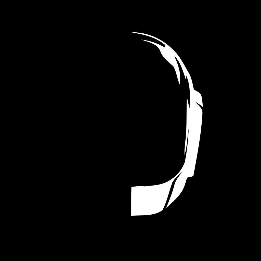 Daft Punk Papercraft Daft Punk Stencil Template Stencil Templates Pinterest