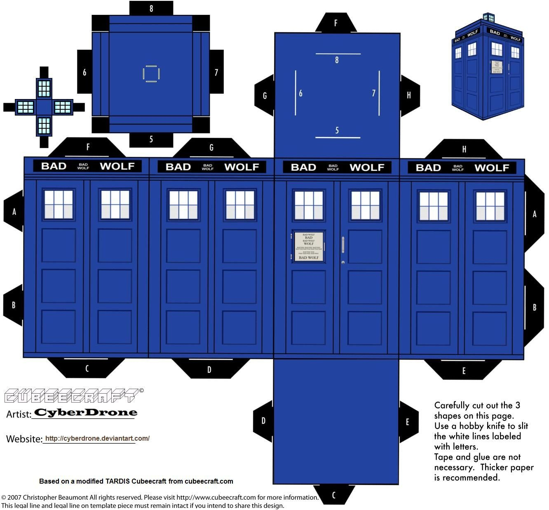 Dalek Papercraft Cubee Bad Wolf Tardis by Cyberdrone 1332—1236 Kaitlyn Pratt