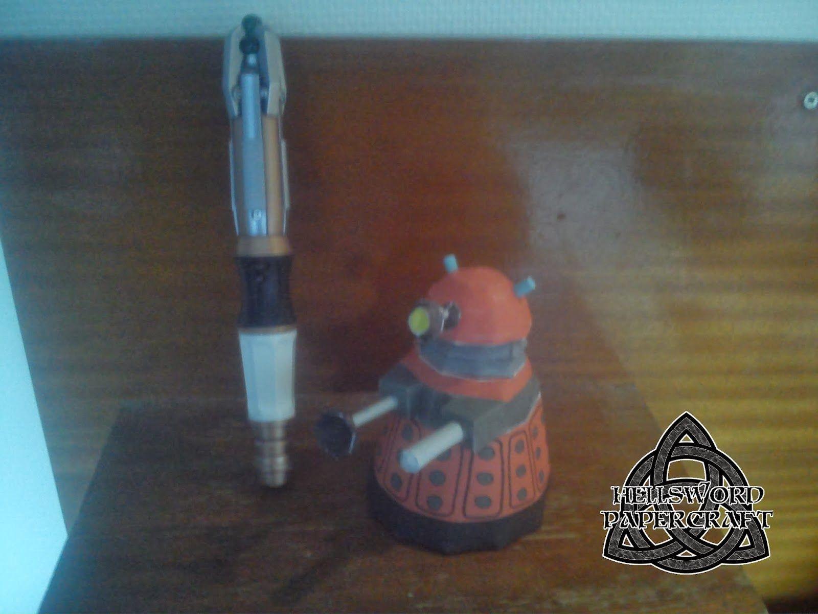 Dalek Papercraft Doctor who Universe] Dalek V2 Chibi Docteur whoo