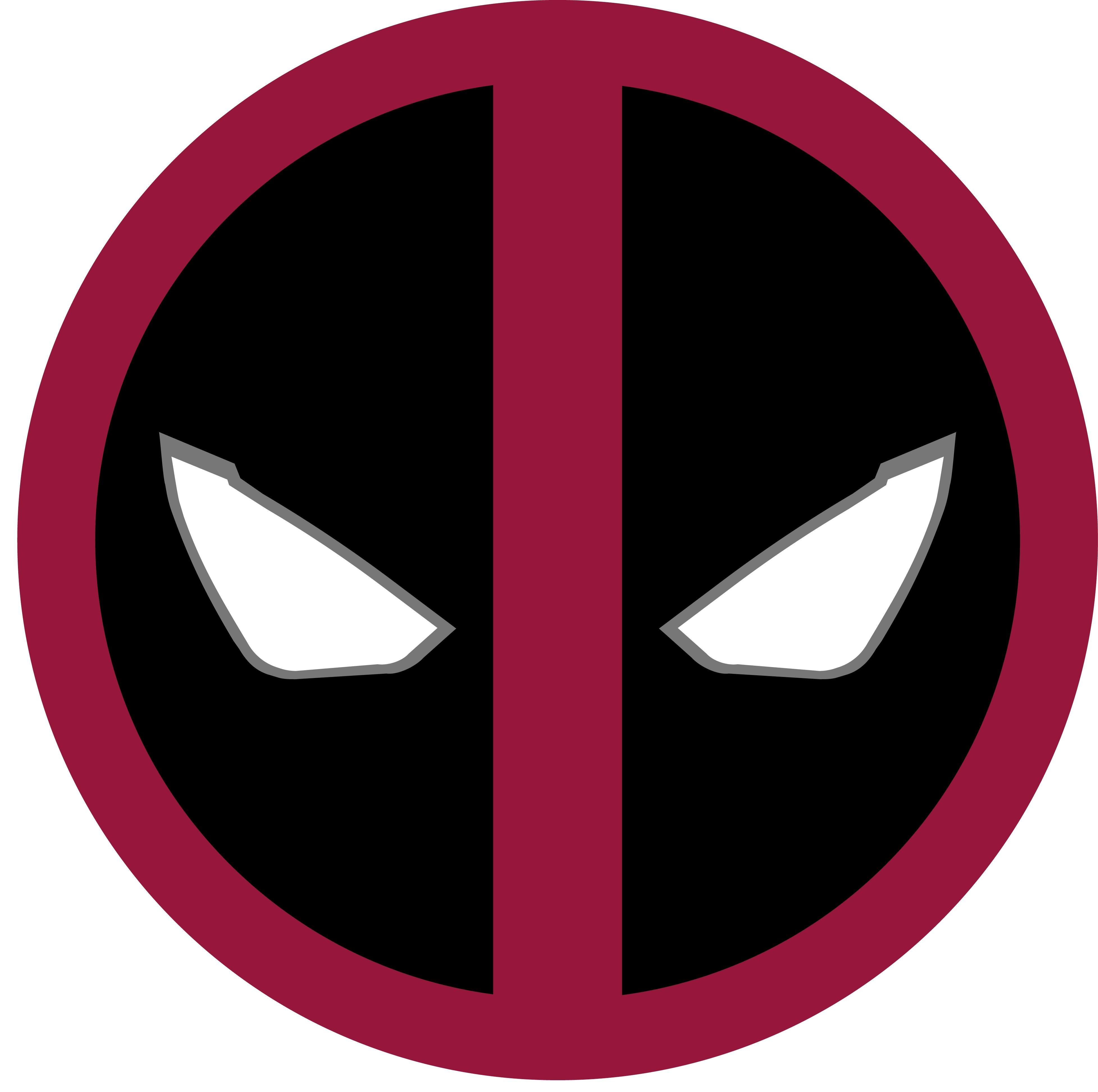 Deadpool Papercraft Deadpool Custom Logo Template Photoshop Illustrater