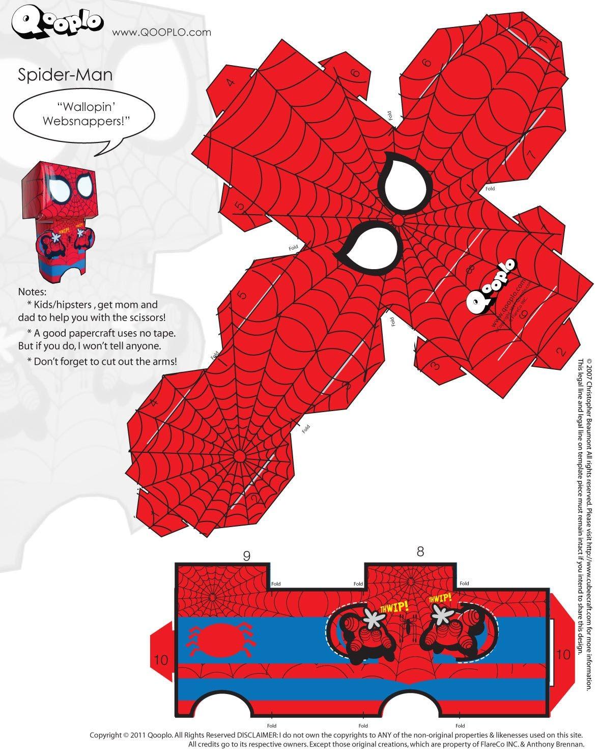 Death Note Papercraft Spider Man Cubeecraft Cubeecraft Pinterest