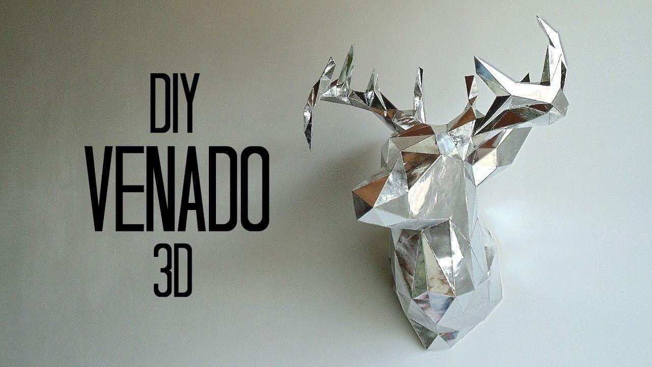 Deer Papercraft Diy Cabeza De Venado 3d En Cartulina Papercraft
