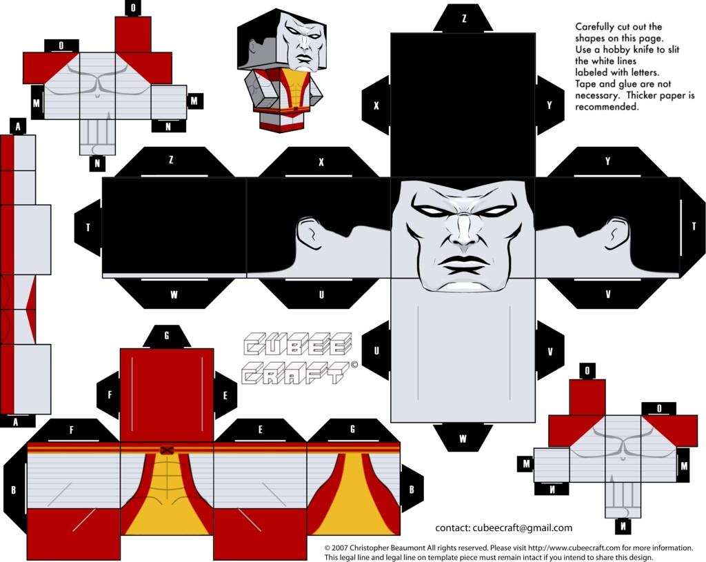 Despicable Me Papercraft Colossus Cubeecraft by Jagamenviantart On Deviantart