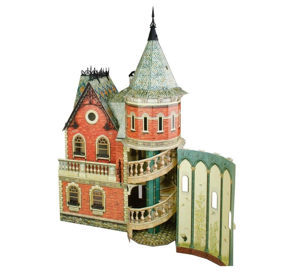 Dollhouse Papercraft Victorianisches Puppenhaus 3 Pinterest