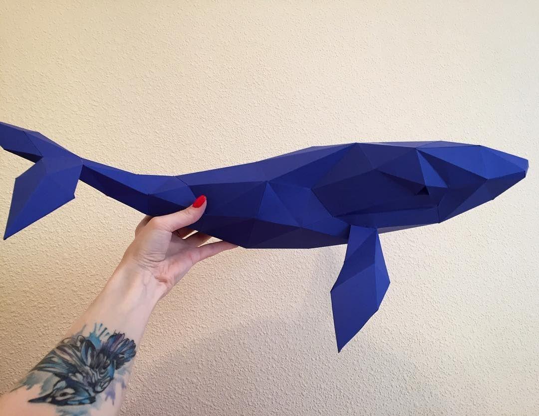 Dolphin Papercraft Моя бессонница породиРа синего кита Сережу Papercraft Pepakura