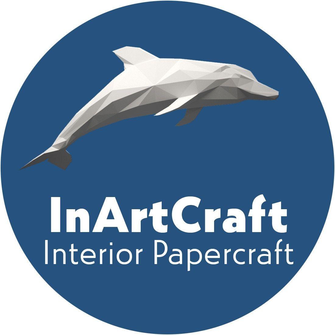 Dolphin Papercraft Papercraft Fox On Rock Paper Model 3d Paper Craft Paper Sculpture