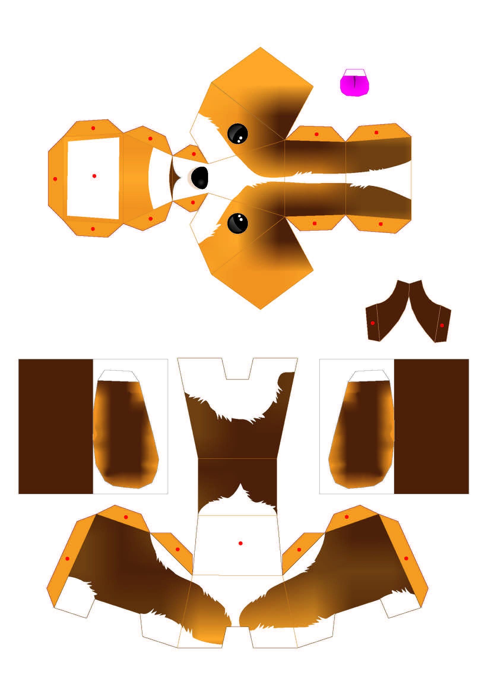 Domo Papercraft Perritos 3d Para Imprimir Y Armar Gratis
