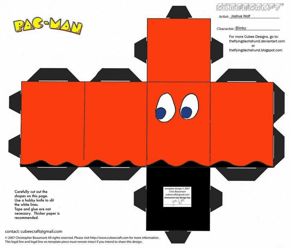 Donkey Kong Papercraft Fantasma Pac Man Paper Crafts Pinterest