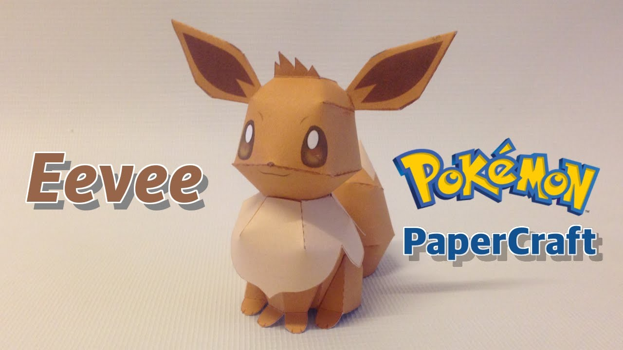 Eevee Papercraft origami Eevee Instructions