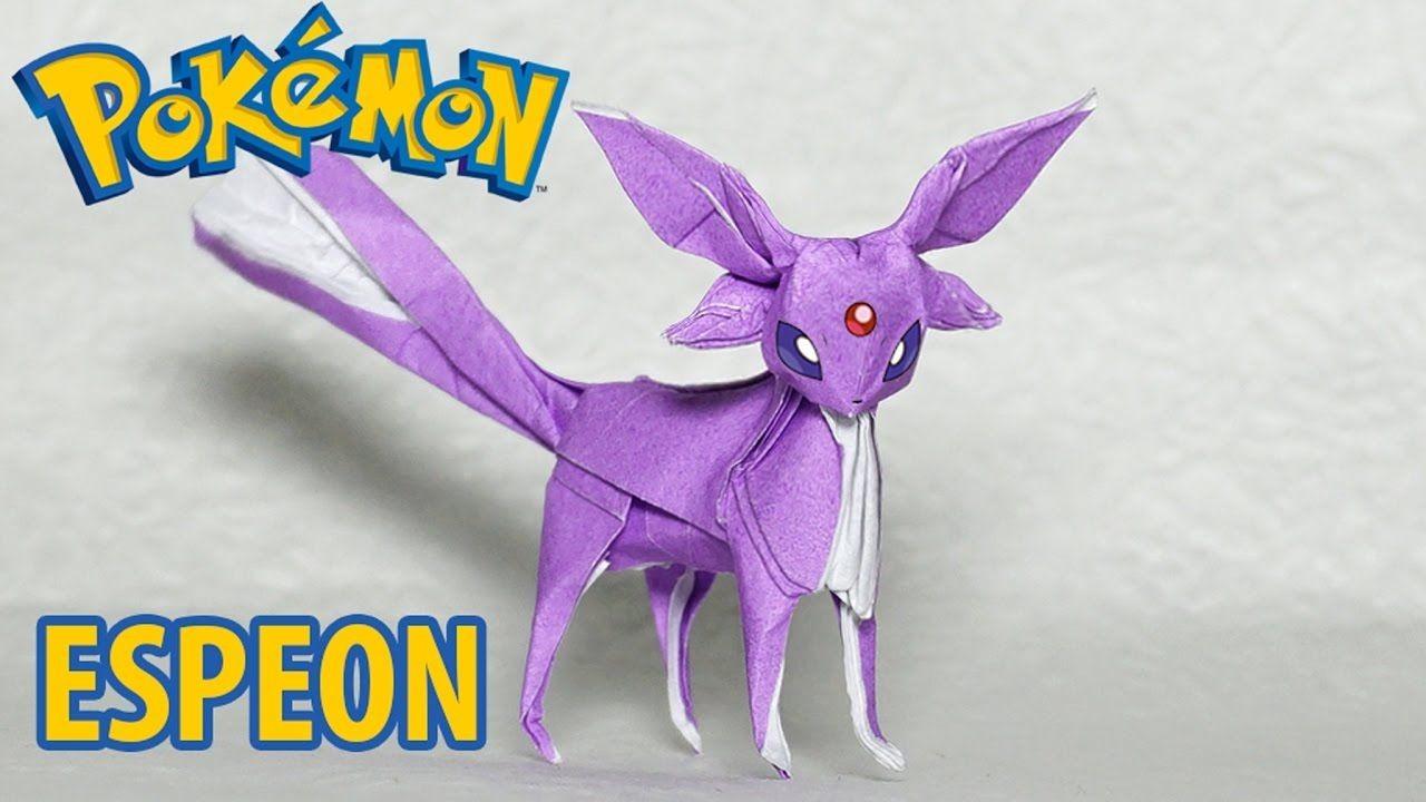 Espeon Papercraft Pokemon origami Espeon Tutorial Henry Phạm Subscribe S