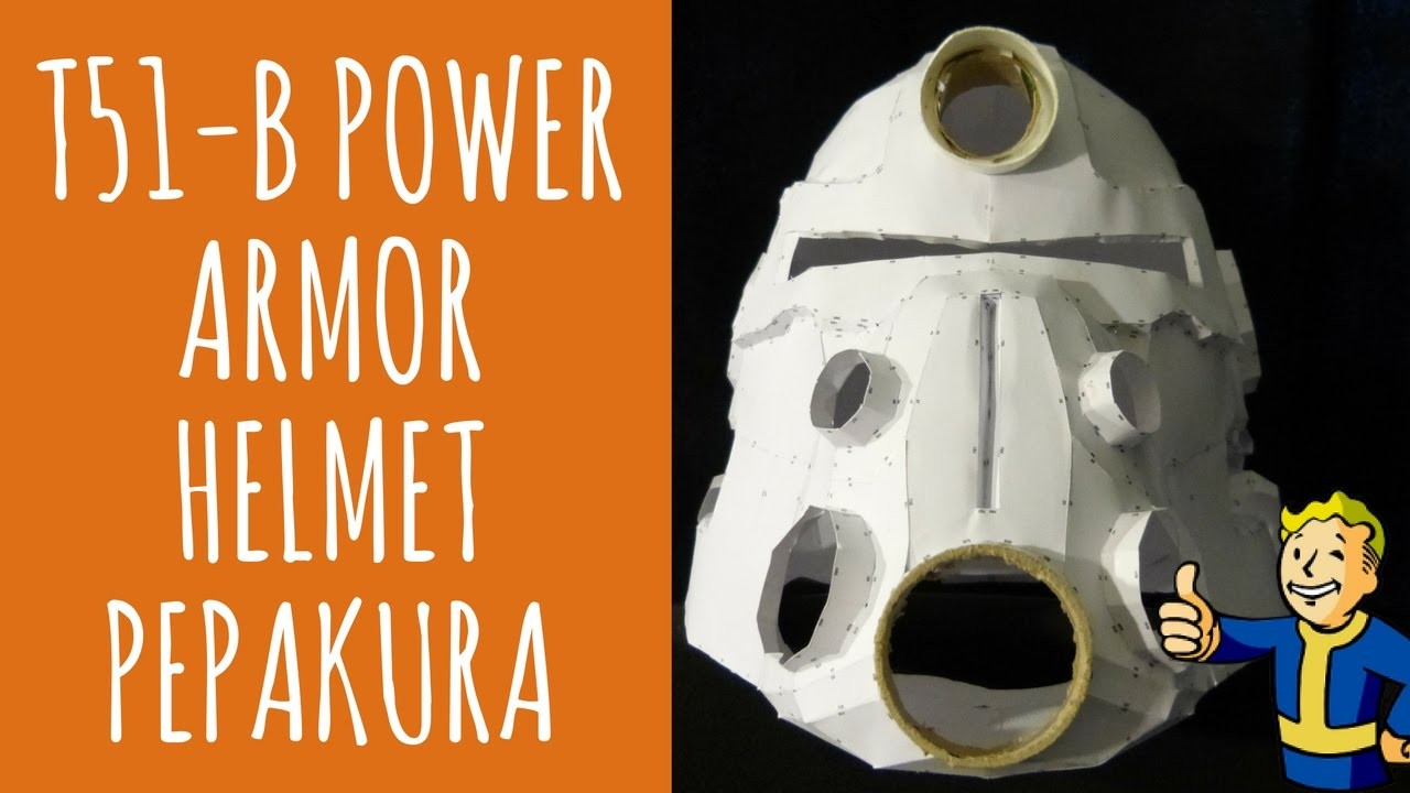 Fallout Papercraft Fallout 4 Papercraftfallout T 45d Power Armor Helmet Free Papercraft