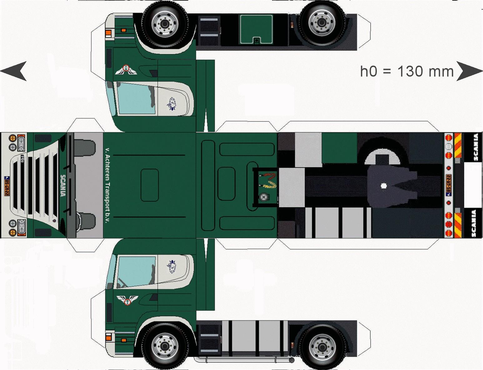 Fire Truck Papercraft Truckachteren Paper Trucks Pinterest