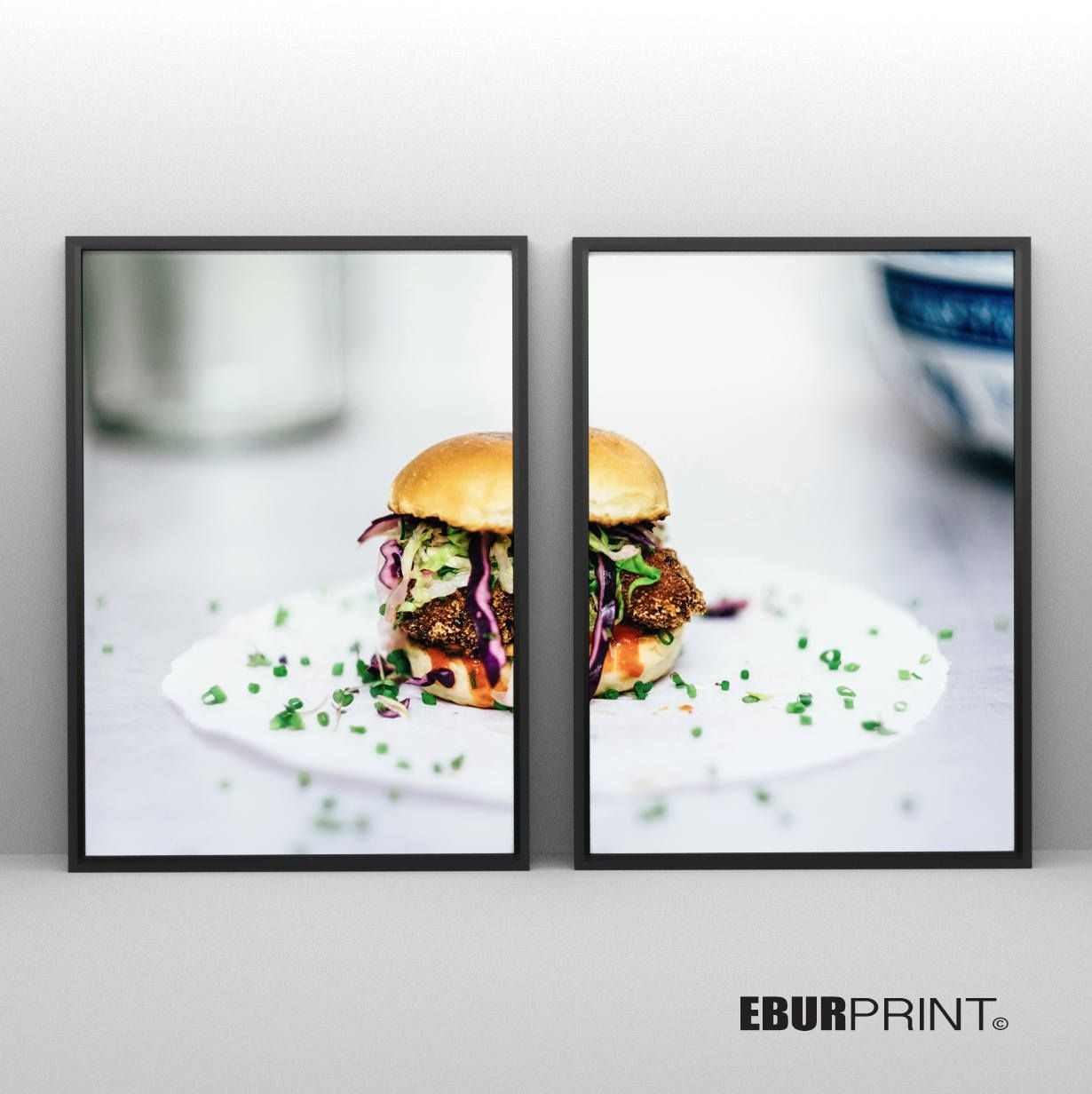 Food Papercraft Hamburger Art 2 Food Print Beef Printable Poster Digital