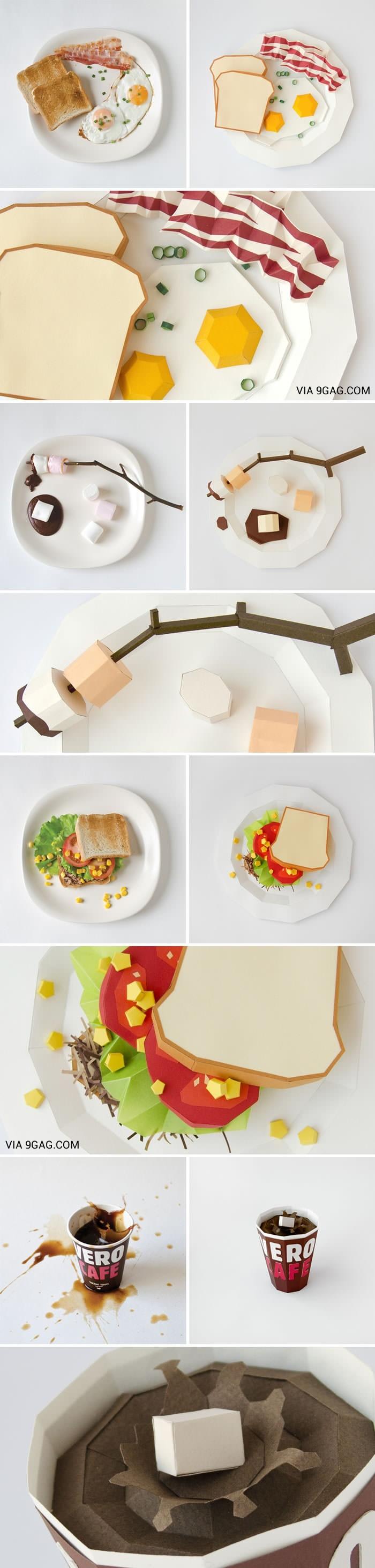 Food Papercraft Paper Art Food & Art Pinterest