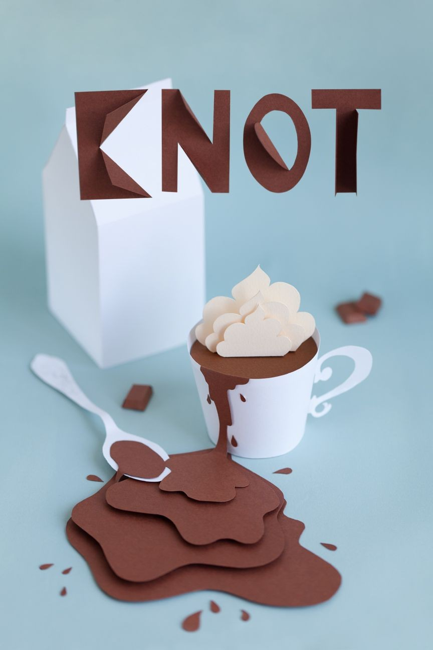 Food Papercraft Paper Chocolate Cup My Little Fabric Stop by the Corner