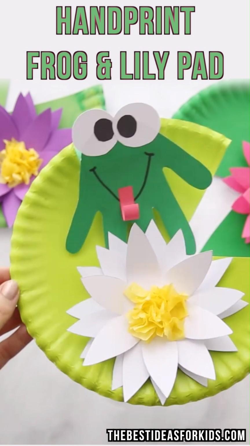 Frog Papercraft Frog Craft Pinterest