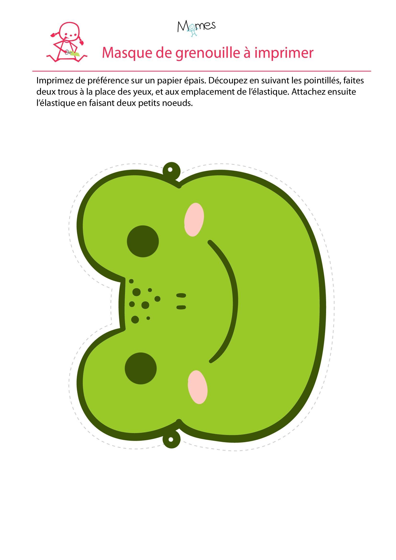 Frog Papercraft Masque De Grenouille 23 Frogs Pinterest