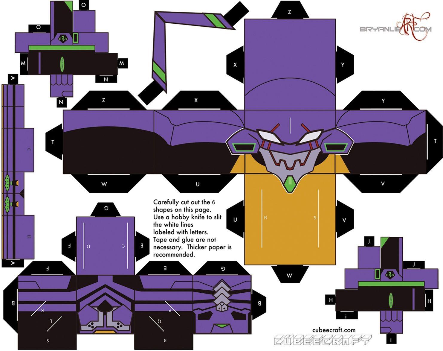 Futurama Papercraft Papercraft Evangelion Unit 1 Tv Evangelion