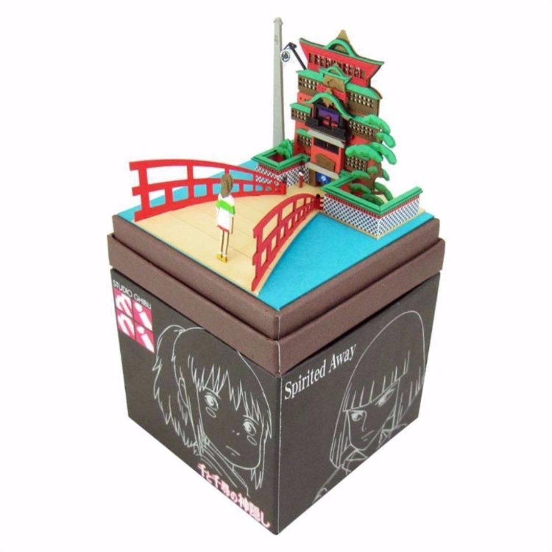 Ghibli Papercraft Studio Ghibli Diy Miniature Kit Spirited Away Yubaba Bath House