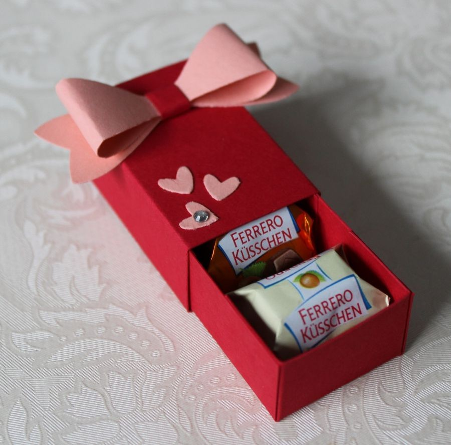 Gift Box Papercraft Ferrero Küsschen Verpackung Stampin Up