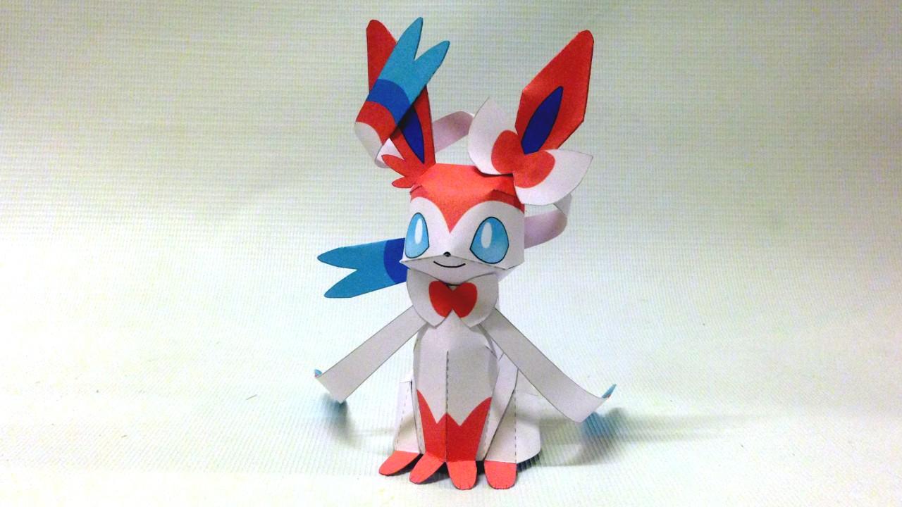 Glaceon Papercraft Yoshiny S Design Sylveon Papercraft Pokemon