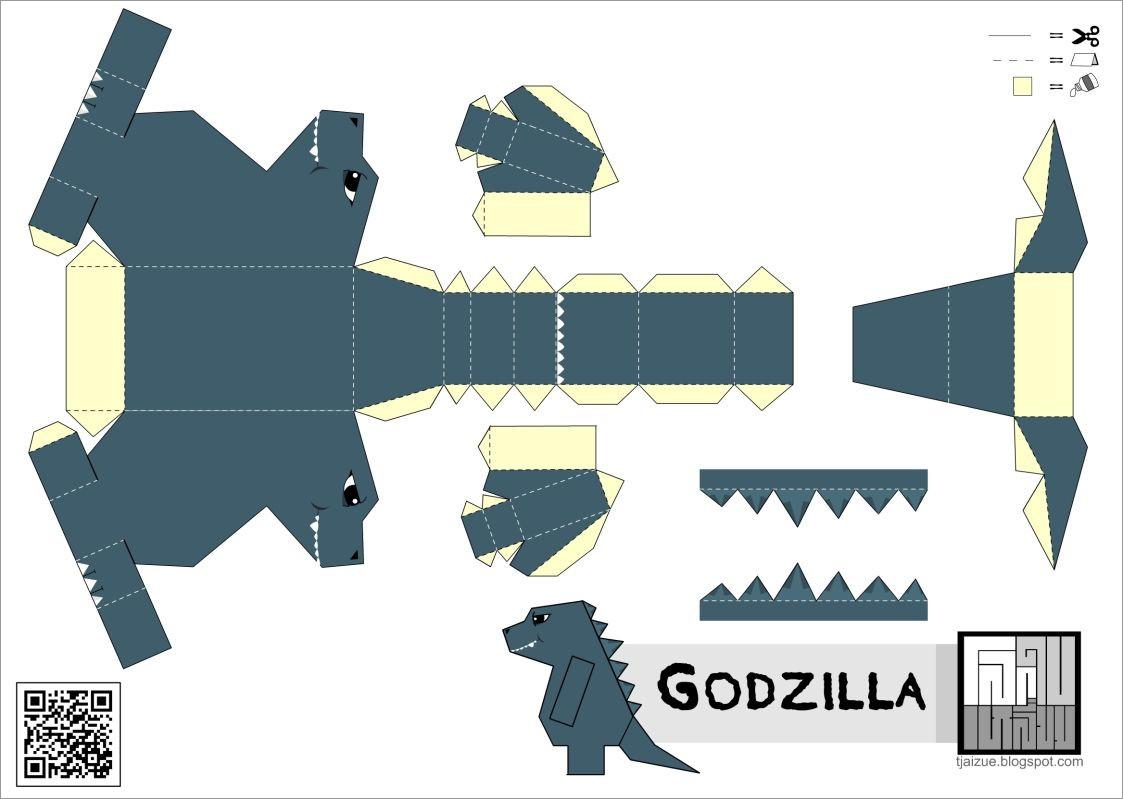Godzilla Papercraft Godzilla Minecraft Papercraft