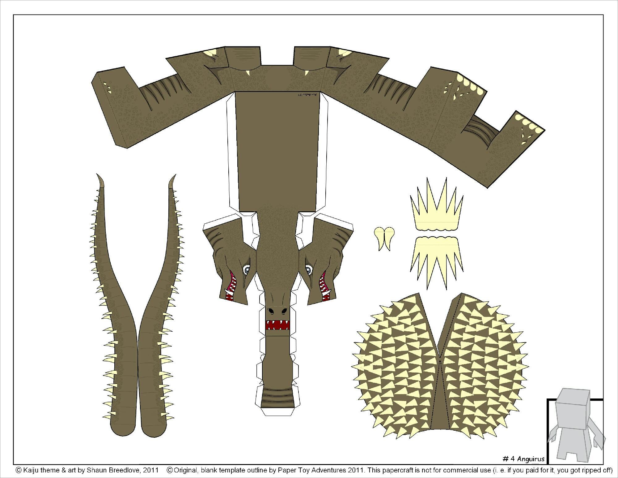 Godzilla Papercraft Godzilla Papercraft Download Free