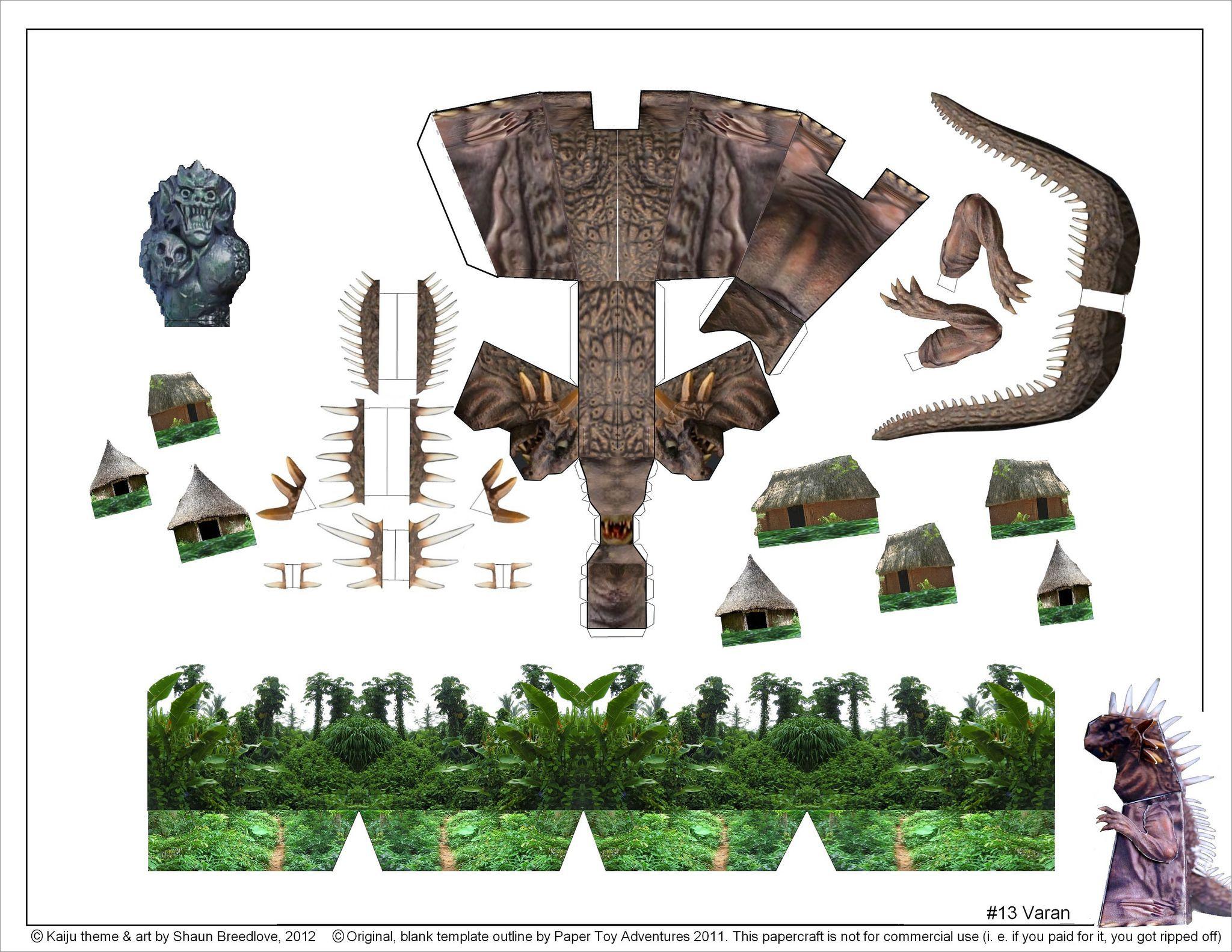 Godzilla Papercraft Godzilla Papercraft Free Download