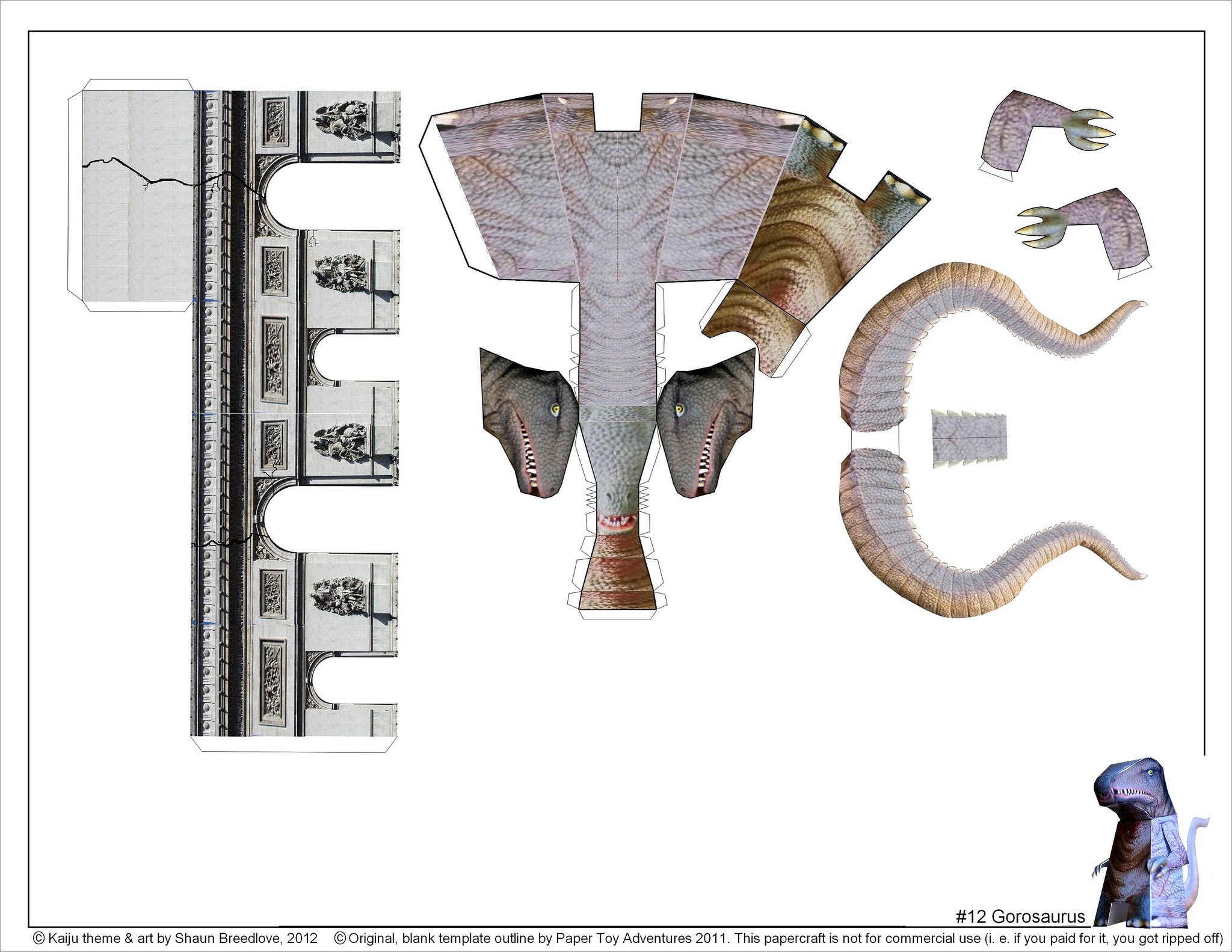 Godzilla Papercraft Gorosaurus Godzilla Papercraft Free Download