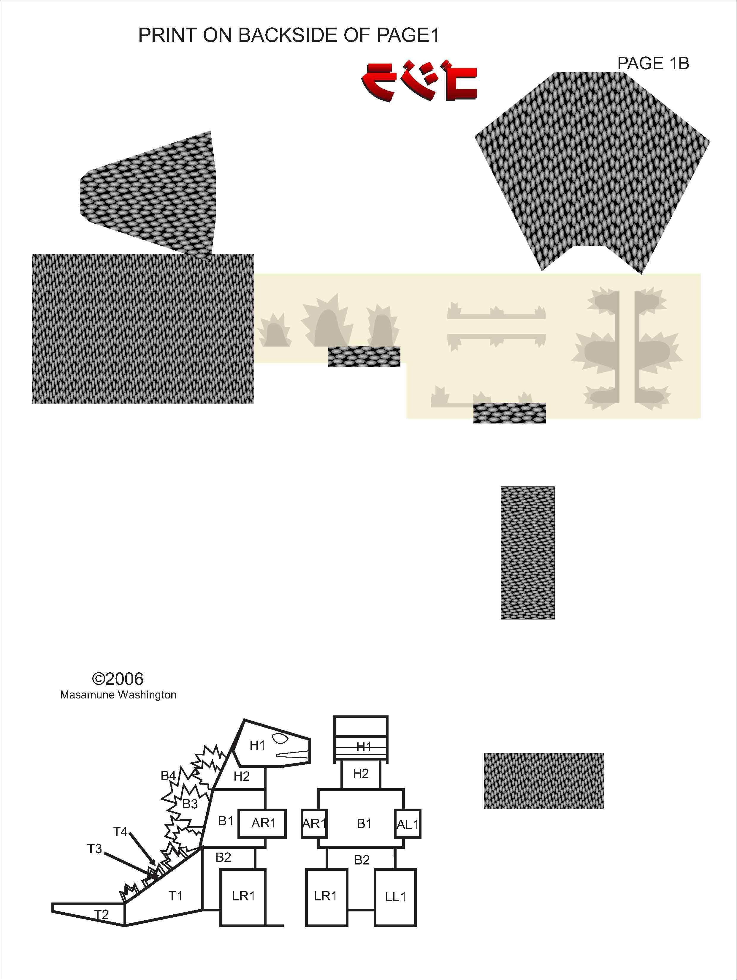 Godzilla Papercraft Papercraft Godzilla Download Free Template
