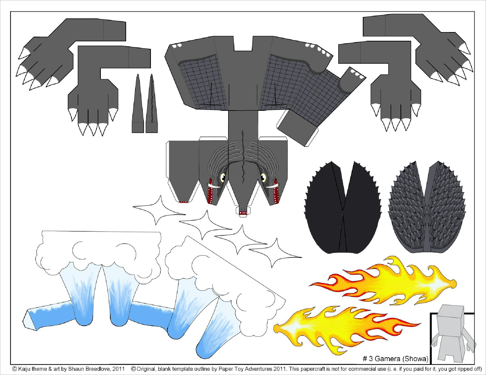 Godzilla Papercraft Papercraft Godzilla Free Download