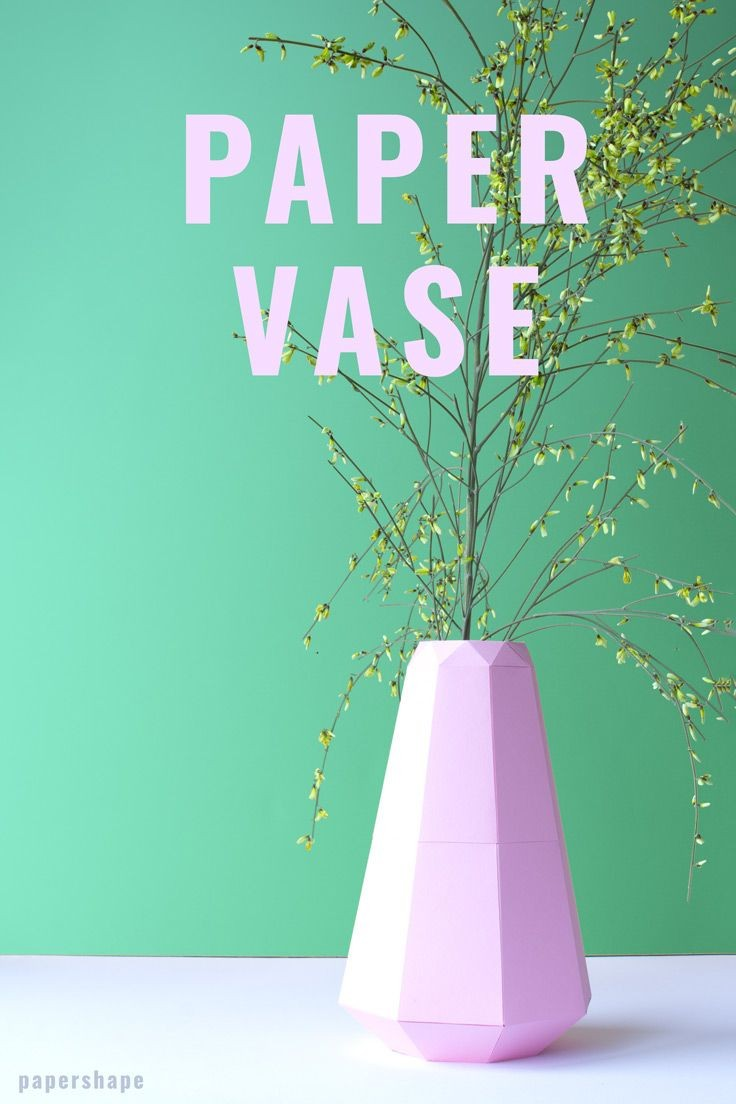 Green Lantern Papercraft Diy Vase Aus Papier Im origami Look Mit Kostenloser Vorlage