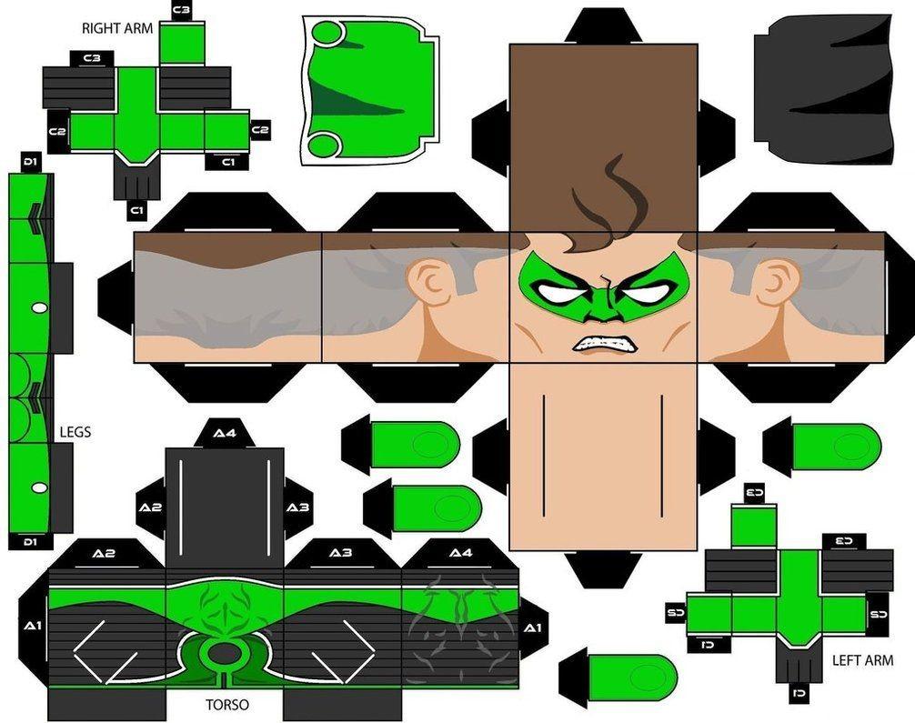 Green Lantern Papercraft Green Lantern Dc Ics Paperdolls T Papercraft