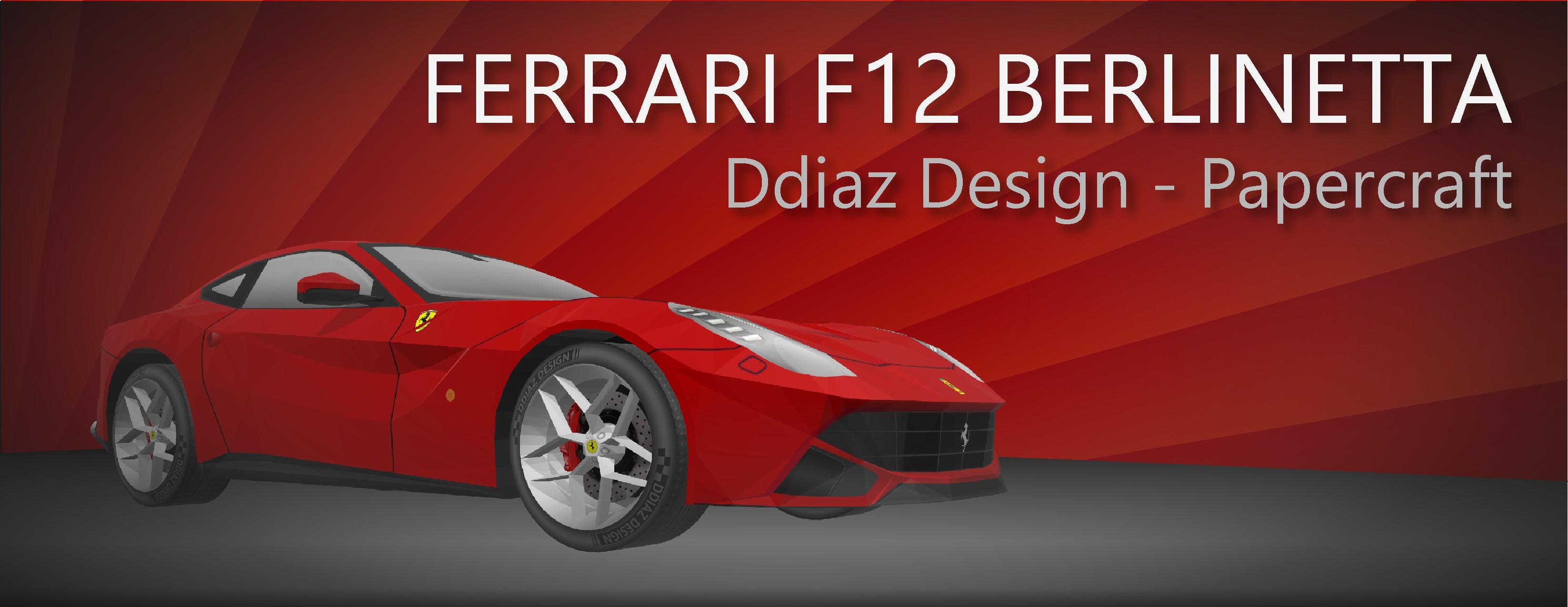 Gta Papercraft Modelo Papercraft Del Ferrari F12 Belinetta Dise±ado Por Ddiaz
