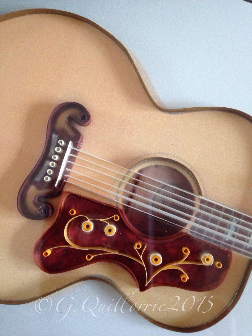 Guitar Papercraft Quilling Guitar Gibson